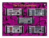 The LCD Controllers - High End Systems