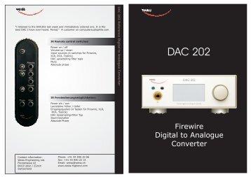 DAC 202 - Audio Visual Factory