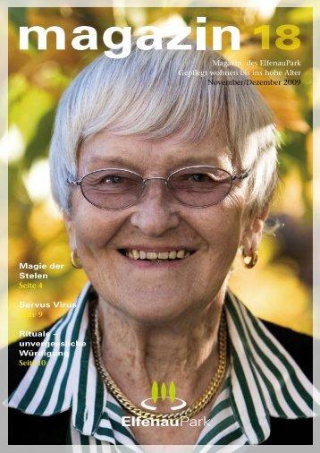 Magazin 18, 09/10.09 - bei ElfenauPark