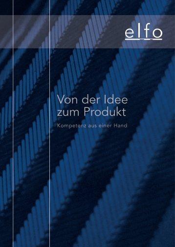 Von der Idee zum Produkt - elfo AG