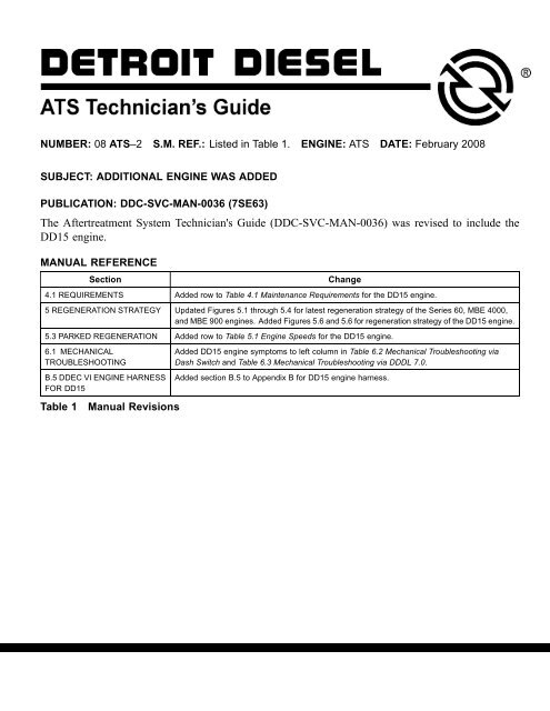 The Aftertreatment System Technician's Guide (DDC-SVC