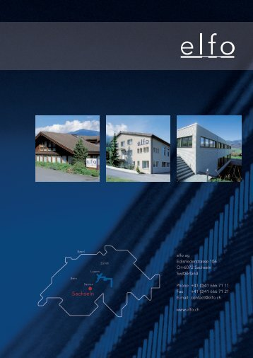 company brochure - elfo AG