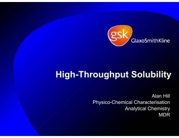 High Throughput Solubility Measurements