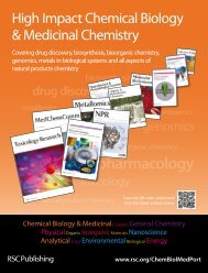 Chemical Biology & Medicinal Chemistry portfolio brochure