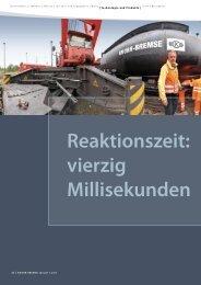 Reaktionszeit: 40 Millisekunden [PDF, 815 kB] - Knorr-Bremse
