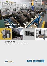 Box Concept Servicing of Distributor Valves - Knorr-Bremse