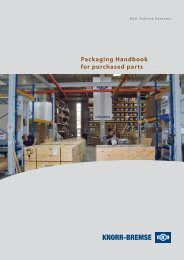 Packaging Handbook for  purchased parts - Knorr-Bremse - IFE
