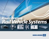 Knorr-Bremse rail vehicle systems