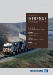 Cover-Story Knorr-Bremse in North America Location Joint Venture ...