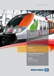 Product Access systems for urban and mainline ... - Knorr-Bremse