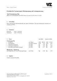 Preisblatt N5p - Wasserwerke Zug AG