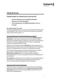 PRESSE-MITTEILUNG Produktneuheiten von ... - Funkwerk AG