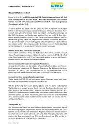 Pressetext Strompreise 2013 - EWD