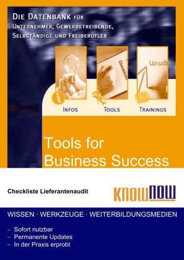 Checkliste Lieferantenaudit - Know-NOW