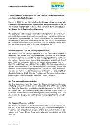 Medienmitteilung Strompreise 2012 - EWD