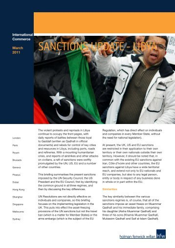 SANCTIONS UPDATE - LIBYA