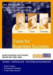 Audit-Checkliste und Protokoll DIN EN ISO 14001:2004 - Know-NOW