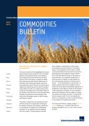 HFW Commodities Bulletin - Holman Fenwick Willan