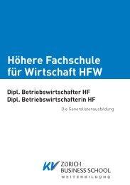 Höhere Fachschule für Wirtschaft HFW - KV Zürich Business School