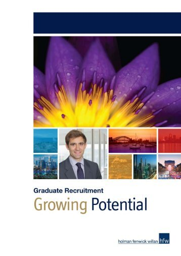 Graduate Recruitment brochure - Holman Fenwick Willan