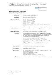 hfw zug | Höhere Fachschule für Wirtschaft Zug | hfw-zug - Kanton Zug