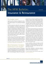 The HFW Bulletin: Insurance & Reinsurance - Holman Fenwick Willan