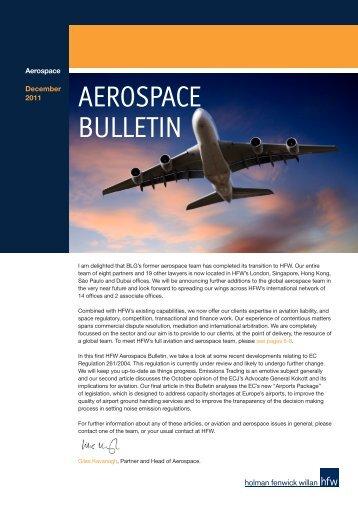AEROSPACE BULLETIN - Holman Fenwick Willan