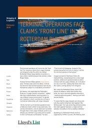 terminal operators face claims 'front line' - Holman Fenwick & Willan