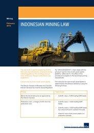 INDONESIAN MINING LAW - Holman Fenwick Willan