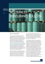 INSURANCE/ REINSURANCE BULLETIN - Holman Fenwick Willan