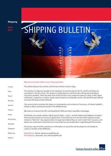SHIPPING BULLETIN - Holman Fenwick Willan