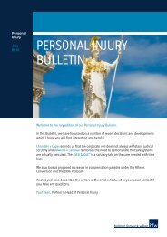 PERSONAL INJURY BULLETIN - Holman Fenwick Willan