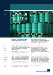 HFW Commodities Bulletin - FCA