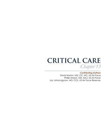 critical care - US Army Medical Department Center & School Portal