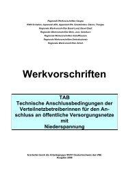 Werkvorschriften TAB Technische Anschlussbedingungen der - EWD