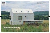 Beton-Findling - Dominic Schmid Architekt Winterthur
