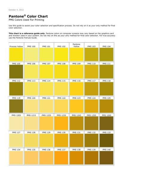 Pantone Color Chart Hessler
