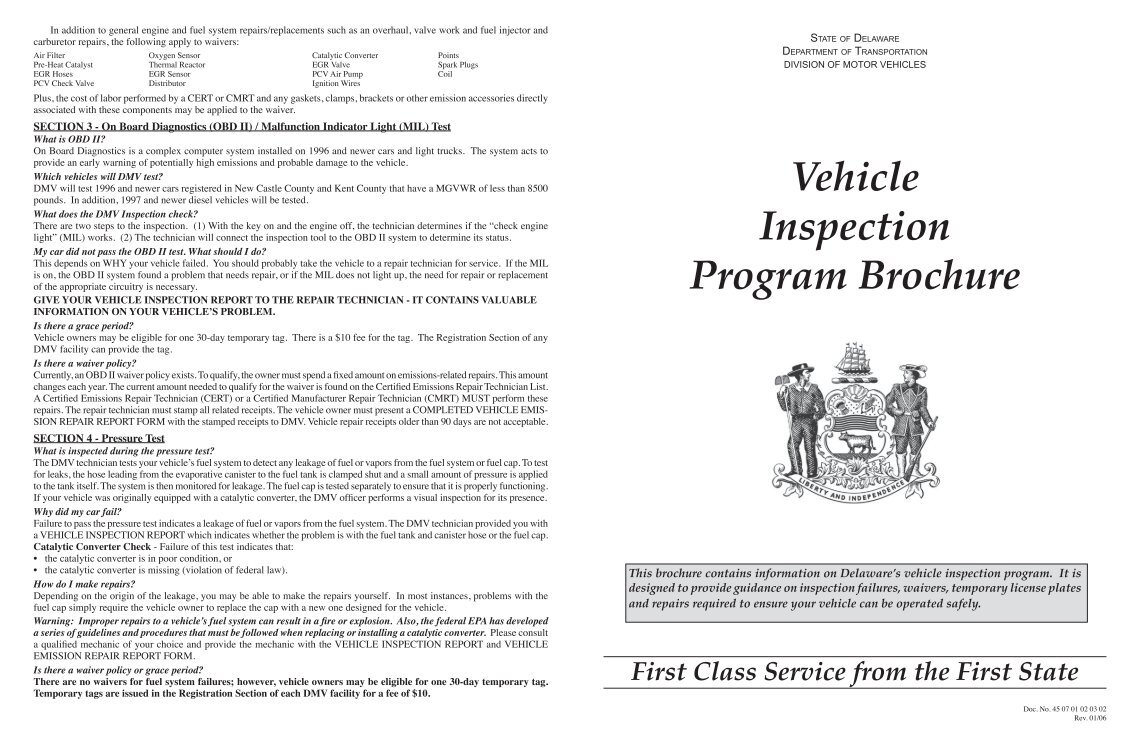 Delaware division of motor vehicles 28 images delaware for Motor vehicle service notification