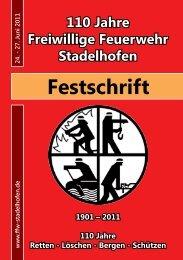 Festschrift - Feuerwehr Stadelhofen