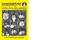 September/Oktober/November 2012 - Nachrichten im Kirchspiel ...