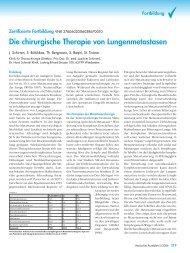 Die chirurgische Therapie von Lungenmetastasen