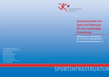 Zusammenarbeit von Sport und Kommune für - Sportinfra