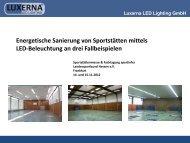 Energetische Sanierung von Sportstätten mittels LED ... - Sportinfra