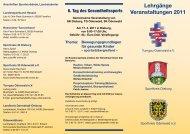 Lehrgänge Veranstaltungen 2011 - Sportkreis Odenwald