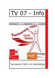 TV-Info Heft - TV 1907 eV Geiß-Nidda