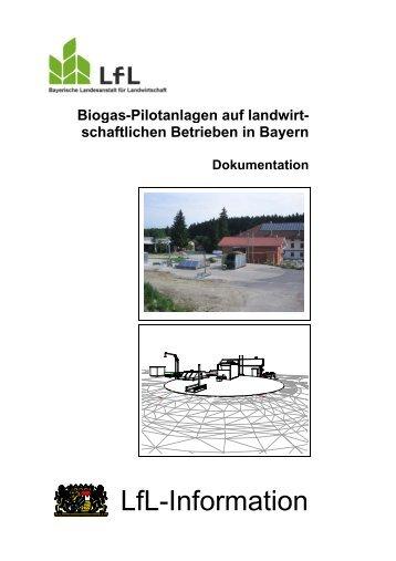 Biogas-Pilotanlagen auf landwirtschaftlichen Betrieben in Bayern