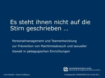 Es steht ihnen nicht auf die Stirn geschrieben … - Deutscher ...