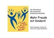 Vortrag 1 - Starke Eltern - Starke Kinder - Kinderschutz-Zentrum Kiel