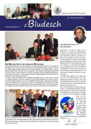 Amtliche Mitteilung vom 23. Dezember 2010 - Gemeinde Bludesch