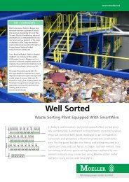 Waste Sorting Plant Equipped With SmartWire - Moeller